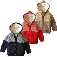 jungen pullover verkauf großhandel-MUQGEW 2019 heißen Verkaufs-Kleinkind-Säuglings-Baby-Mädchen Warm gestrickte mit Kapuze Tops Pullover Outfit Mantel Dropshipping Baby-Kleidung