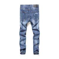 Wholesale wide leg men s jeans resale online – designer Original single new high end jeans Designer luxury soft Street hip hop Selling The New printing cotton Outdoor top Wild man jeans
