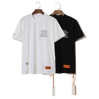 camisas venda por atacado-19ss fashion ins amantes heron off preston bordado CTNNB brand new homens mulheres de manga curta t-shirt t hiphop casual tshirts branco / preto