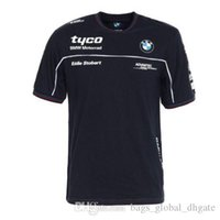 mann kurzarm pullover groihandel-Sommer Motocross Kurzarm T-Shirts Tyco BMW Motorrad Quick Dry Rundhals Pullover Qualitäts 100% Cotton Material T-Shirt