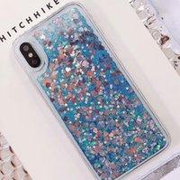 notiz-treibsand-fall großhandel-Flüssige quicksand case glitter bling defender fällen abdeckung für iphone x 8 7 6 s plus samsung note 9 j3 j7 2018