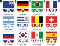 bayrak çıkartmaları toptan satış-10 adet / grup Ulusal Bayrak Haritası Paskalya Çıkartmalar PVC Su Geçirmez Kaykay Bavul Için Motosiklet Gitar DIY Çıkartmaları Bomba Sticker