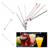Wholesale cocktail stirs for sale - Group buy new Designs martini cocktail stirring rod stainless steel picks barSwizzle Sticks cocktail decoration bar tools Barware T2I5440
