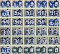 chandail de hockey tim horton achat en gros de-Classique hivernale des Maple Leafs de Toronto Hommes # 7 Tim Horton 93 Doug Gilmour 27 Darryl Sittler 17 Wendel Clark 14 Chandails de hockey sur glace Dave Keon