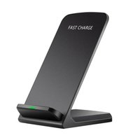 Wholesale chinese iphone dock resale online - Fast Wireless Chargers Coils Dock Charger Station Holders W Qi Charging Stand Pad for iPhone XS MAX XR X Plus Samsung S10EPlus