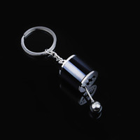 Wholesale universal car parts resale online - 1pcs Novel Modified Gearshift Lever Car Key Chains Decor Universal Brake Disc Parts Key Chains