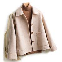 ingrosso cadono abbigliamento vintage-coreano stile moda delle donne di cappotti invernali donne del cappotto di lana autunno casuali alla moda signore plaid d'epoca cime abiti femminili cadono 2019