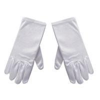 мальчики белые перчатки оптовых-Унисекс детские перчатки белые короткие атласные мягкие эластичные перчатки для детей девочка мальчик выступление танец речи