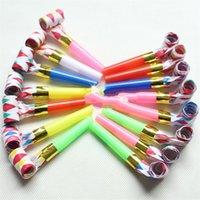doğum günü oyuncakları üfleme toptan satış-Çocuklar Üfleme Ejderha Komik Renkli Islık Oyuncak Dekompresyon Plastik Boru Oyuncaklar Hediyeler Çocuk Doğum Günü Parti Malzemeleri 0 12wc N1