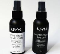 Wholesale spray finish resale online - NYX Dewy Finish Fini Mat NYX Dewy Finish Fini Veloute Matte Finish Makeup Setting Spray Long lasting Setting Spray ML