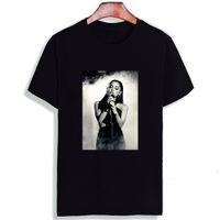 grande fashion оптовых-Модная футболка с коротким рукавом Ariana Grande Сексуальная певица с принтом 100% хлопок, майка, футболка с круглым вырезом, мужская пара