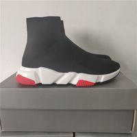 ingrosso scarpe da ginnastica-Designer Sneakers Speed Trainer Nero Rosso Gissola Triple Nero piana di modo Calzino Stivali Casual Shoes Speed Trainer Runner