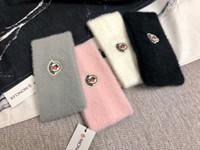 lenço de peles venda por atacado-Designer moncl headband marca headbands de pele para homens e mulheres de alta qualidade inverno quente headband bandas de cabelo lenço de cabeça para o melhor presente
