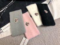 kadın kürkü şapkaları toptan satış-Tasarımcı moncl kafa marka Kürk erkekler ve kadınlar için kafa bantları en kaliteli kış sıcak kafa Saç Bantları Kafa eşarp için en iyi hediye