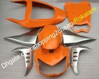 вторичный рынок мотоциклов оптовых-Мотоцикл Aftermarket комплект для Kawasaki обтекатели Z1000 пластик 2003 2004 2005 2006 Z 1000 03 04 05 06 обтекатель тела оранжевый серебристый