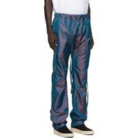 pantalones de chándal al por mayor-Otoño invierno de alta calidad de EE.UU. temor de Dios Fundamentos de 6º reflectantes 3M bordado pantalones casuales pantalones deportivos pantalones Niebla Hombres Mujeres del basculador