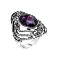 senhoras grande moda anéis venda por atacado-Moda Bonito anel de aço Inoxidável feminino Filled Oco Big Ring Ladies Presente Da Jóia do Dedo 2019