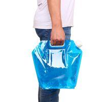 ingrosso contenitori di stoccaggio dell'acqua-5L Water Bag Pieghevole Portable Survival Storage Bag PE Sicurezza Sigillo insipido Bere Contenitore pieghevole per acqua Escursionismo da campeggio