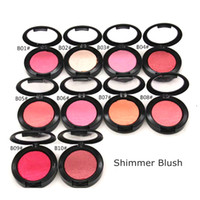 Wholesale blush pearls makeup resale online - Hot Powder Shimmer Blush Powder Shimmer Pink Swoon Peaches rouge Color Pearl grooming blusher Factory Price Party Makeup g