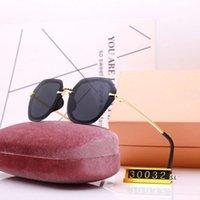 gafas de sol de viento al por mayor-miumiu 30032 Tablero de alta calidad SO SMOOTH WIND 30032 gafas de sol para hombre y mujer gafas de sol retro persol gafas de conducción con estuche original