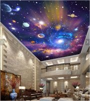 Wholesale vintage textiles for sale - Group buy WDBH d wallpaper custom photo Colorful starry sky universe galaxy ceiling mural room Home decor d wall murals wallpaper for walls d