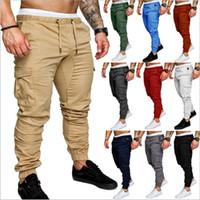 pantalon de danse masculin achat en gros de-Pantalons Baggy Pants Joggers HIPHOP Jeans Sarouel Pantalon De Danse Sport Pantalons Décontractés Joggers Leggings Pantalon Homme Sarouel B4206
