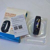 браслеты для батареек оптовых-M3 Умный Браслет Yoho Спорт USB Большая батарея Спорт Bluetooth Фитнес-Трекер Часы Сердечного ритма Водонепроницаемый Шагомер Push-сообщение MEN PK M4