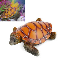 Wholesale toy sea turtles for sale - Group buy Artificial Polyresin Aquatic Sea Turtle Tortoise Aquarium Ornament Fish Tank Decoration Turtle Decor Toys