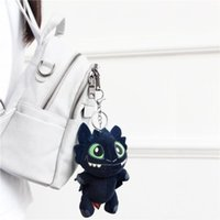 Wholesale stuffed animal toy chain resale online - 17cm inch How to Train Your Dragon Plush pendant Toy New movie Toothless Stuffed Doll Key chain MMA1508