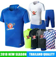 Wholesale kit outfit for sale - Group buy Training KITS Outfits Tracksuits SHORT SLEEVE HAZARD KANTE DIEGO COSTA FABREGAS DAVID LUIZ shirts TOP SOCCER FOOTBALL