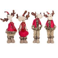 adorno grande al por mayor-Navidad innovadora Big Elk Dolls Ornamento Decoración de Navidad para la decoración del hogar Año Nuevo Adorno Suministros Niños Regalos Y19061103