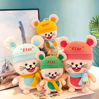 Wholesale valentine stuff toys resale online - Mouse Stuffed toy Animals cartoon Hamster plush toys stuffed dolls Kawaii stuffed animals Doll Kids toys Christmas gifts