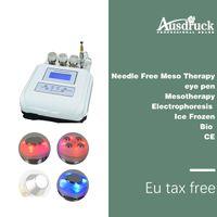 nadel-massagegerät großhandel-EU steuerfrei Ultraschall Massagegerät Hautstraffung Photon Verjüngung Nadelfrei Mesotherapie Körper Gesichtspflege Maschine Anti-Aging-Gerät