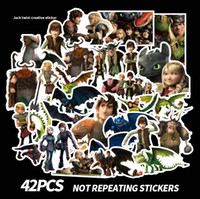 Wholesale train stickers for sale - 42pcs set Graffiti Sticker Personality How to Train Your Dragon Luggage DIY stickers cartoon PVC Wall bag kids toys AAA1920
