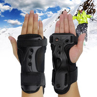 Wholesale eva gloves for sale - Group buy Outdoor Breathable Lightweight Hand Care Brace Protective Gear Wrist Support Sports Adjustable Roller Skating EVA Black Gloves
