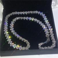 colares de casamento de ouro branco venda por atacado-Romântico Roma Colar de Ouro Branco Preenchido 5A cz Partido À Noite colares para As Mulheres de Noiva Acessórios Do Casamento Jóias