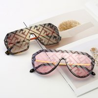 óculos de moda grande quadro venda por atacado-F carta designer de óculos de sol Das Mulheres Dos Homens de luxo grande full frame óculos de sol óculos de sol designer de óculos lady Moda eyewear LJJA2547