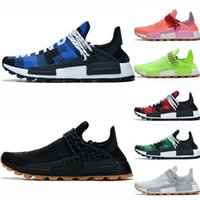 Wholesale men's winter shoe resale online - Men Women human race running shoes Infinity Species Breathe Through Heart Mind Red men s ultra Top quality chaussures Trainer Sneaker