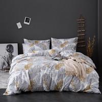 conjunto de cama deixa venda por atacado-conjunto de cama capa mole Consolador capa de edredão com folhas de impressão de microfibra colcha queen size rei