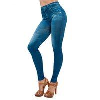 kot pantolon pantolon toptan satış-Sıcak bayanlar Denim pantolon kadın yaz Rahat Pantolon kadın Cep İnce Tayt Spor Artı Boyutu Leggins Uzunluğu Kot Y604
