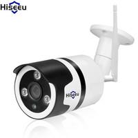açık gece kablosuz güvenlik kamerası toptan satış-Hiseeu HD 720 P 1080 P IP Kamera Kablosuz Wifi Camara Açık Su Geçirmez Gece Görüş IR Cut Bellek Ev Güvenlik