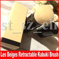 kabuki maquiagem cosméticos escova venda por atacado-Famosa ferramenta de Maquiagem Rosto Les Beiges RETRACTABLE Kabuki escova com Caixa de Pacote Beleza blush sombra Cosméticos Pincéis de Maquiagem