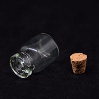 Wholesale bottles vials cork resale online - 1ml Mini Glass Bottle With Wood Cork Mini Wishing Perfume Bottles Vial Sample Bottles Cosmetic Container RRA440