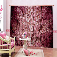 Wholesale 90 inch shower curtain for sale - Group buy Custom D Bathroom Shower Curtain Pink Flowers Curtains Living room bedroom blackout curtain