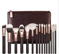 Wholesale best professional makeup brushes set resale online - Brand Best quality Set Brush With PU Bag Makeup Brush Professional Brush For Powder Foundation Blush Eyeshadow Eyeliner Blending Penci
