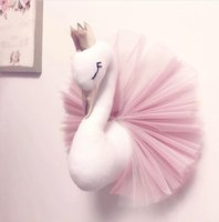 Wholesale couch decor resale online - Nordic Baby Funny Couch Pillows Decorative Swan Plush Toys Girls Room Decor Pillow Cushion Custom Wall Hanging Modern Home Decor