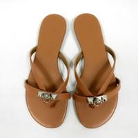 789fecc5db6d Wholesale brown rubber flip flops online - 2019 Designer Sandals fashion  Women Corfou sandal Horse brand