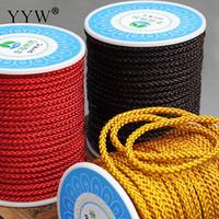 ingrosso collane di nylon nere-Alta qualità oro nero rosso nylon filo di nylon filo di plastica cord cinturino corda fai da te collana di perline shamballa bracciali fare