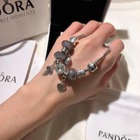 ingrosso scatole regalo di braccialetto di pandora-luxury designer gioielli bracciali donna bracciale Pandora charm acciaio inox vite polsino bracciali regalo Bracciale donna scatola originale