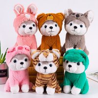 Wholesale new year pillow resale online - Cartoon Husky Plush Stuffed Dog Big Toys CM Huskie Dog Doll Lovely Animal Children Birthday Gift Corgi Plush Pillow